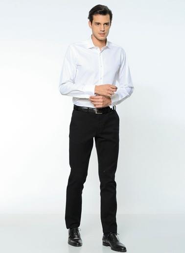 Daffari Klasik Slim Fit Uzun Kollu Gömlek Beyaz